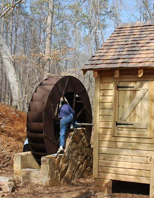 Fort Mill Greenway Poncelet Waterwheel
