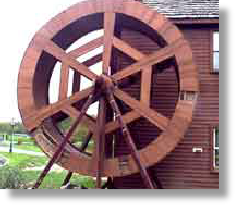 Broken Wooden Waterwheel